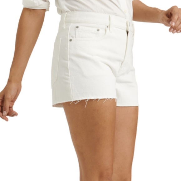 """Lucky Brand """"The Cut Off"""" Denim Jean Shorts White"""